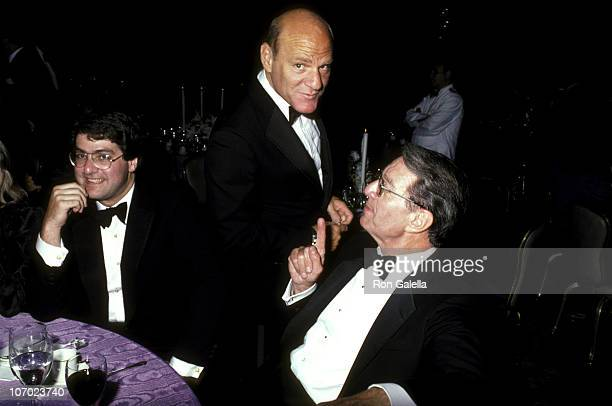 Barry Diller and Martin Davis during Four Month Wedding Anniversary for Barbara Walters Merv Adelson September 26 1986 at Pierre Hotel in New York...