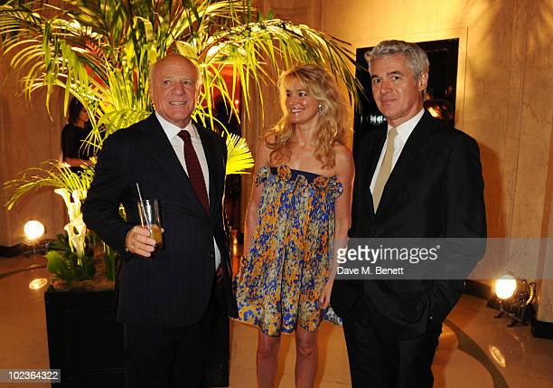 Barry Diller Avery Agnelli and John Frieda attend the Diane Von Furstenberg and Claridge's launch party at Claridge's on June 23 2010 in London...