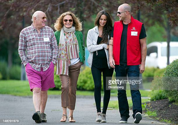 Barry Diller chairman and chief executive officer of IAC/InterActiveCorp from left designer Diane von Furstenberg Ali Kay cofounder and designer of...
