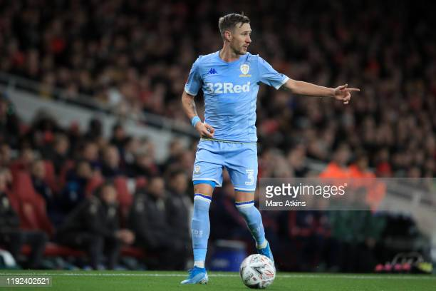 Barry Douglas of Leeds United during the FA Cup Third Round match between Arsenal and Leeds United at Emirates Stadium on January 6 2020 in London...