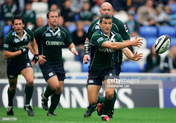 Barry Everitt of London Irish in action during the Guinness Premiership match between London Irish and Worcester Warriors at The Madejski Stadium on...