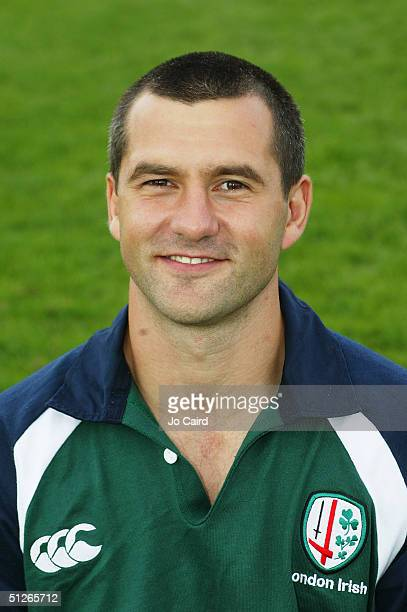 Barry Everitt pictured during the London Irish squad photocall at The Avenue on August 24 2004 in Sunbury England
