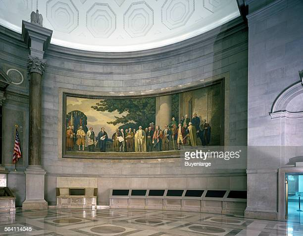 Barry Faulkner 1936 Constitution mural in the rotunda of the National Archives Washington DC