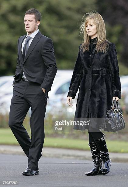 Barry Ferguson arrives for the funeral of Colin McRae and son Johnny at East Chapel, Daldowie Crematorium on September 26, 2007 in Glasgow, Scotland....