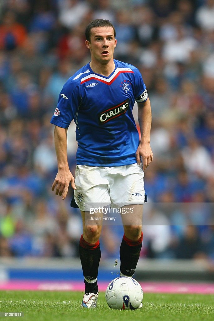 Barry Ferguson of Rangers in action during The Clydesdale Bank Scottish Premier League match between Rangers and Dundee United at Ibrox Stadium on May 10, 2008 in Glasgow, Scotland.