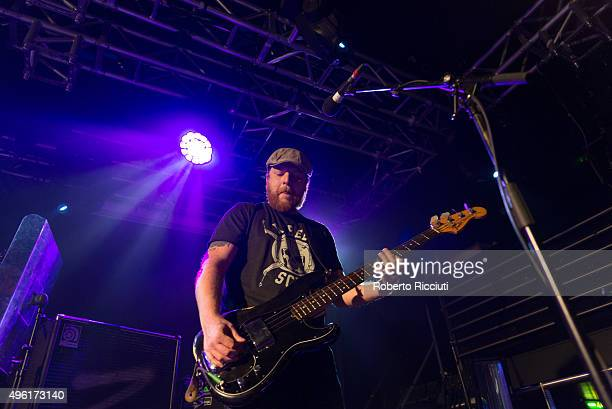 Barry Fratelli of The Fratellis performs on stage at The Liquid Room on November 7 2015 in Edinburgh Scotland