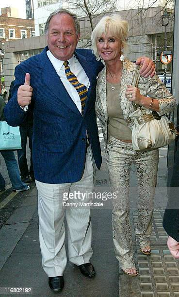 Barry Fry and Wife during Jacqueline Gold Book Launch Party Outside Arrivals at The Ivy in London United Kingdom