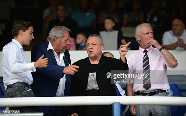 Barry Fry Director of Football of Peterborough United with David Sullivan and David Gold Joint Chairman of West Ham United during the Pre Season...