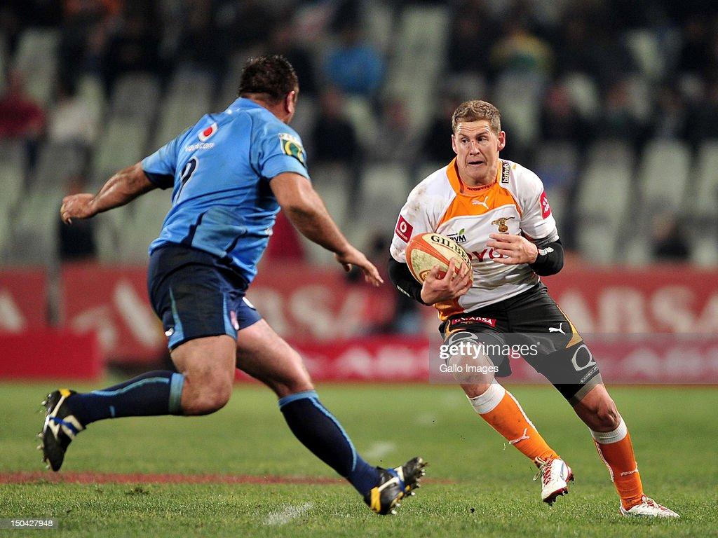 Barry Geel of the Cheetahs during the Absa Currie Cup match between Toyota Free State Cheetahs and Vodacom Blue Bulls at Free State Stadium on August 17, 2012 in Bloemfontein, South Africa.