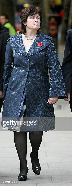 Barry George's sister Michelle Diskin arrives at the High Court for her brother's appeal against his conviction on November 5 2007 in London England...