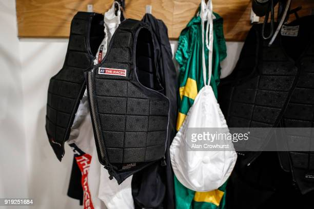 Barry Geraghty peg in the changing room at Ascot Racecourse on February 17 2018 in Ascot England