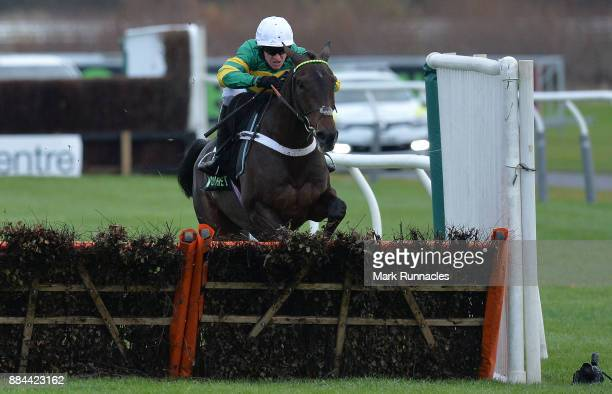 Barry Geraghty riding Buveur D'Air on his way to winning the Unibet Fighting Fifth Hurdle Race at Newcastle Racecourse on December 2 2017 in...
