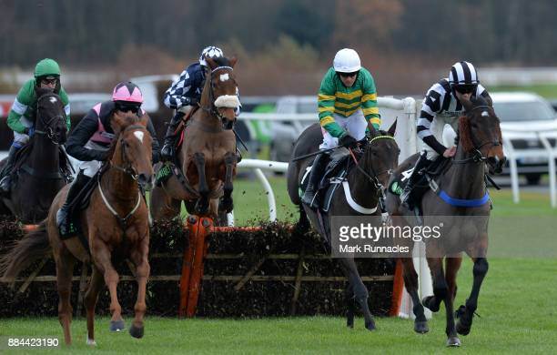 Barry Geraghty riding Buveur D'Air racing in the Unibet Fighting Fifth Hurdle Race at Newcastle Racecourse on December 2 2017 in Newcastle upon Tyne...