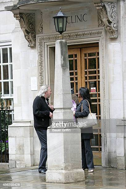 Barry Gibb and his wife Linda Gibb are seen on April 09, 2012 in London, United Kingdom.