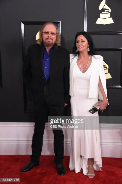 Barry Gibb and his wife Linda Gibb on the Red Carpet at THE 59TH ANNUAL GRAMMY AWARDS broadcast live from the STAPLES Center in Los Angeles Sunday...