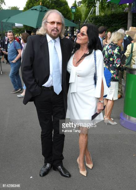 Barry Gibb and Linda Gibb attend day 11 of Wimbledon 2017 on July 14 2017 in London England
