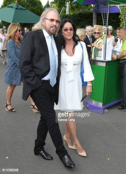 Barry Gibb and Linda Gibb attend day 11 of Wimbledon 2017 on July 14, 2017 in London, England.