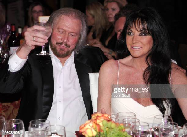 Barry Gibb and Linda Grey attend G'Day USA 2011 Black Tie Gala at Hollywood Palladium on January 22 2011 in Hollywood California