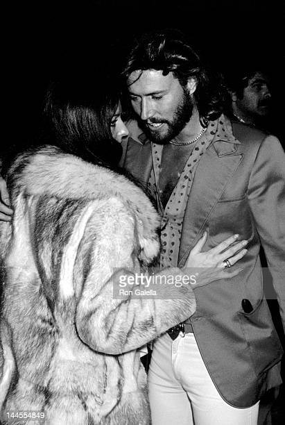 """Barry Gibb and wife Linda Gibb attend the premiere party for """"Sgt. Pepper's Lonely Hearts Club Band"""" on January 18, 1978 at Roseland in New York City."""