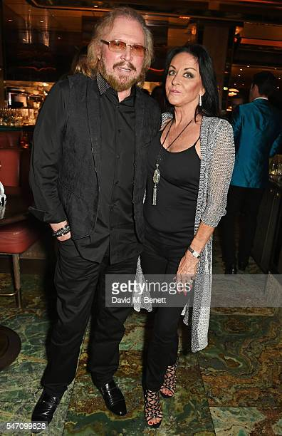 Barry Gibb and wife Linda Gibb attend the Sony Music UK Summer Party at Sexy Fish on July 13 2016 in London England