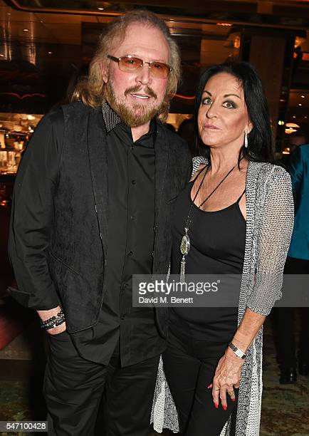 Barry Gibb and wife Linda Gibb attend the Sony Music UK Summer Party at Sexy Fish on July 13, 2016 in London, England.