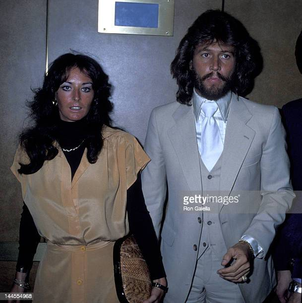 """Barry Gibb and wife Linda Gibb attend the taping of """"The David Frost Show"""" on May 16, 1978 in New York City."""