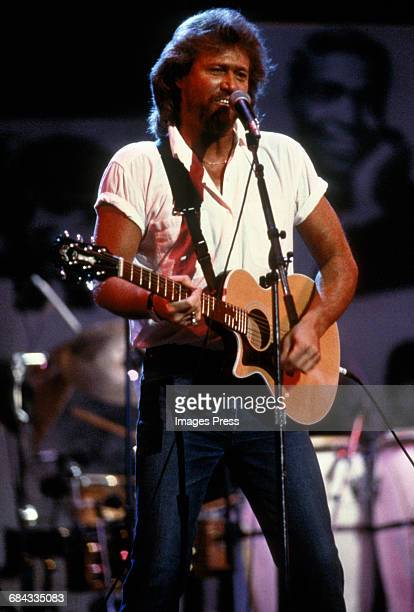 Barry Gibb attends the 40th Anniversary of Atlantic Records circa 1988 in New York City.