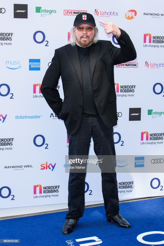 Barry Gibb attends the Nordoff Robbins O2 Silver Clef Awards 2018 at Grosvenor House, on July 6, 2018 in London, England.