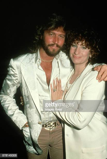 Barry Gibb of the Bee Gees and Barbra Streisand circa 1981 in New York City.