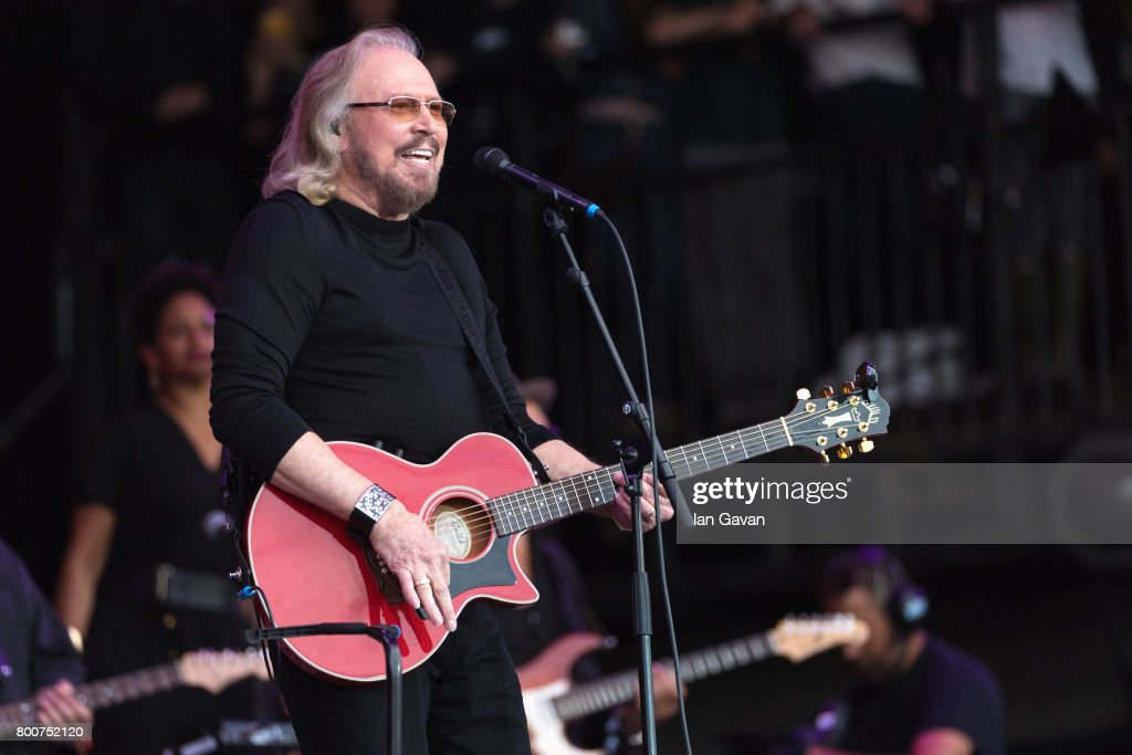 Barry Gibb performs on day 4 of the Glastonbury Festival 2017 at Worthy Farm, Pilton on June 25, 2017 in Glastonbury, England.