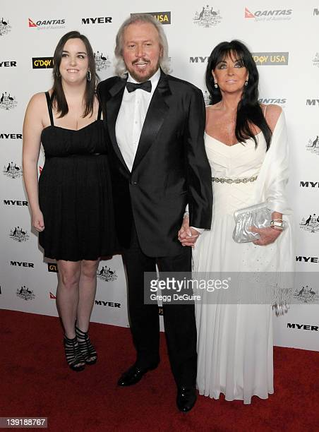Barry Gibb, wife Linda Gibb and daughter Alexandra Gibb arrive at the 2011 G'Day USA Los Angeles Black Tie Gala honoring Barry Gibb, Roy Emerson and...