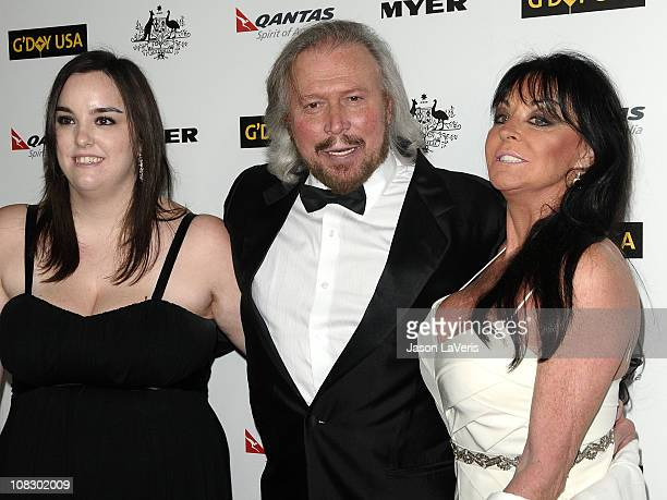 Barry Gibb wife Linda Gibb and daughter Alexandra Gibb attend the 2011 G'Day USA Los Angeles black tie gala at The Hollywood Palladium on January 22...