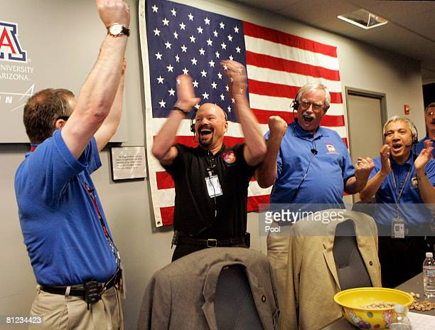 Barry Goldstein JPL Project Manager Ed Sedivy Spacecraft Manager Lockheed Martin Space System Peter Smith Principal Investigator Univ of Arizona Fuk...