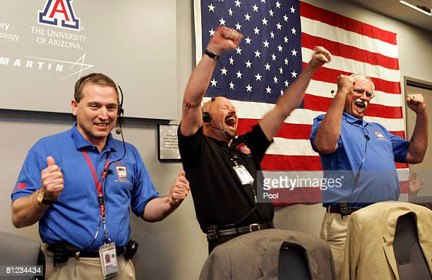 Barry Goldstein JPL Project Manager Ed Sedivy Spacecraft Manager Lockheed Martin Space System and Peter Smith Principal Investigator Univ of Arizona...