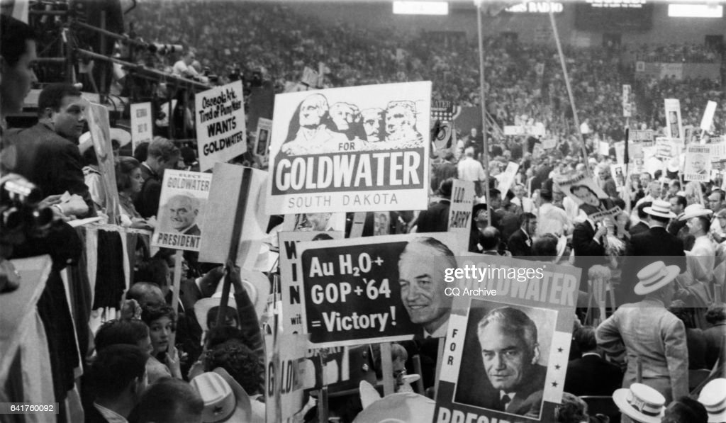 Supporters pictured at the Republican National Convention at Cow Palace in San Francisco : News Photo