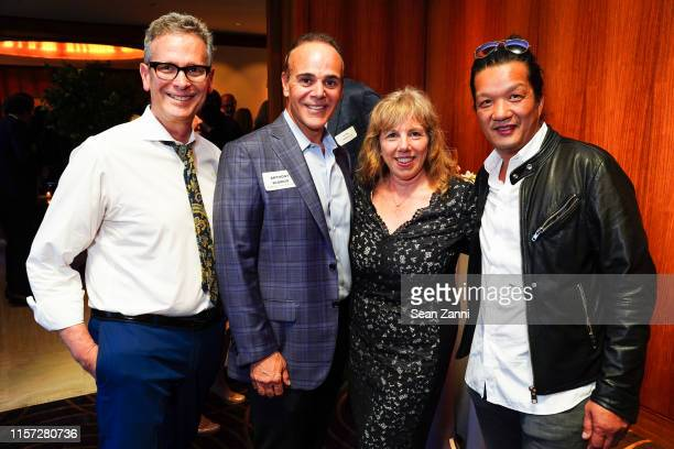 Barry Goralnick Anthony Scordio Mara Flash Blum and West Chin attend New York's Little Elves LV Wood Top Hat and Urban Clarity Host Book Signings for...