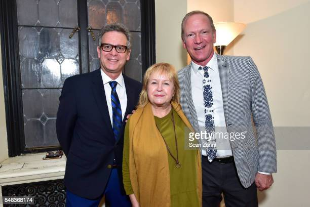 Barry Goralnick Bethanne Matari and Keith Gordon attend ELLE DECOR Celebration of Iconic French Style at the French Consulate on September 12 2017 in...