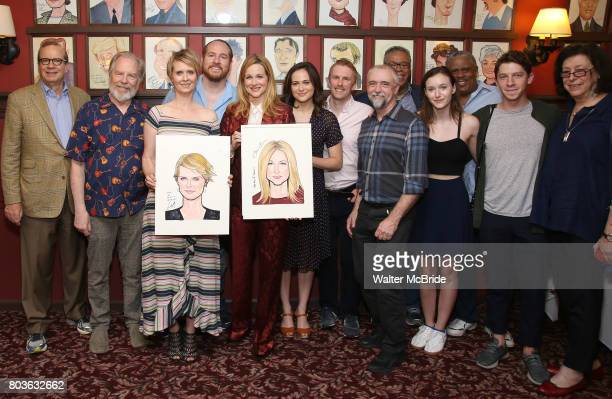 Barry Grove Michael McKean Cynthia Nixon Laura Linney Francesca Carpanini Michael Benz and Lynne Meadow attend the portrait unveilings of Laura...
