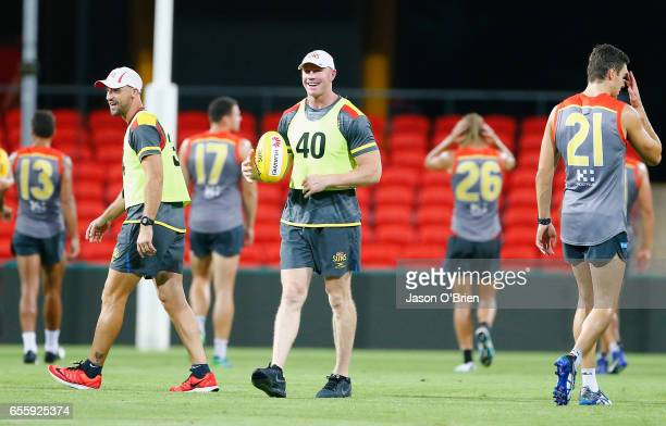 Barry Hall during a Gold Coast Suns AFL training session at Metricon Stadium on March 21 2017 in Gold Coast Australia