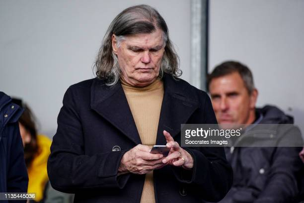 Barry Hulshof on the stand during the Dutch Eredivisie match between Willem II v Ajax at the Koning Willem II Stadium on April 6 2019 in Tilburg...