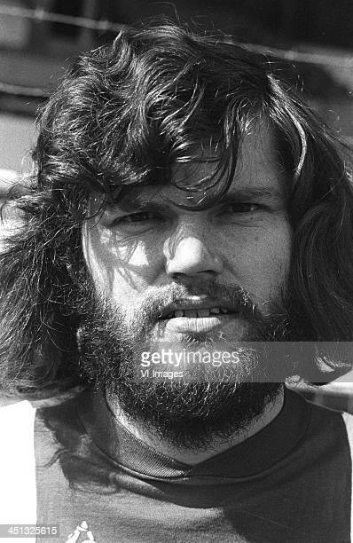 Barry Hulshoff during the team presentation of Ajax Amsterdam in 1974 in Amsterdam The Netherlands