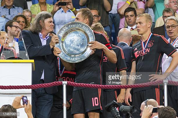 Barry Hulshoff Siem de Jong of Ajax during the Dutch Super Cup match between AZ Alkmaar and Ajax Amsterdam on July 27 2013 at the Amsterdam Arena in...