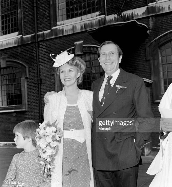 Barry Humphries and Diane Millstead after their wedding at Marylebone Registry Office, 17th June 1979.