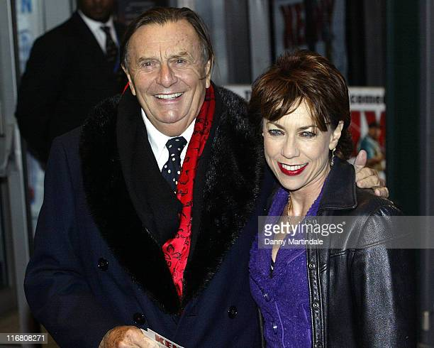 """Barry Humphries and Kathy Lette attend the """"Kenny"""" UK premiere at the Odeon, West End on September 26, 2007 in London ."""