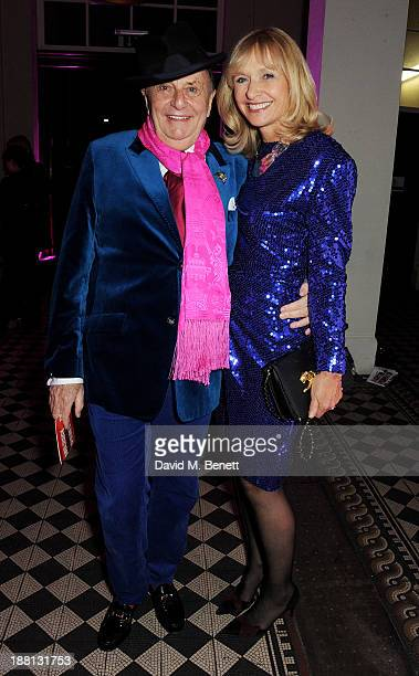 Barry Humphries and Lizzie Spender attend an after party celebrating the press night performance of 'Barry Humphries' Eat Pray Laugh' at One Mayfair...