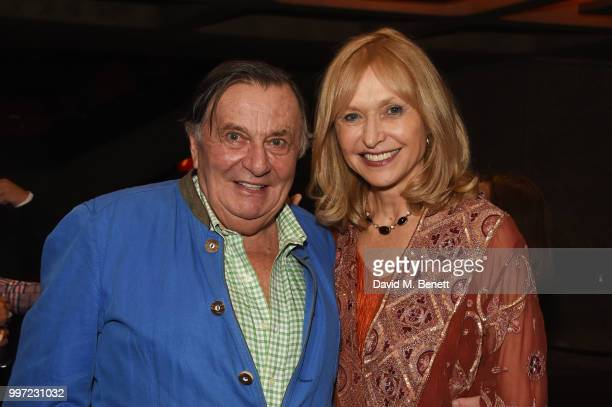 Barry Humphries and Lizzie Spender attend the press night performance of 'Barry Humphries' Weimar Cabaret' at The Barbican Centre on July 12 2018 in...