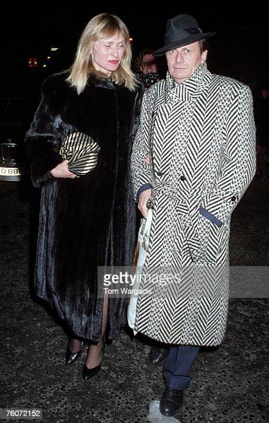 Barry Humphries and Lizzie Spender on November 5, 1987 in London.