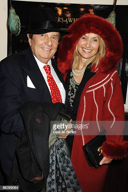 Barry Humphries and wife Lizzie Spender attend the press night of The Last Cigarette at Walkers on April 28 2009 in London England