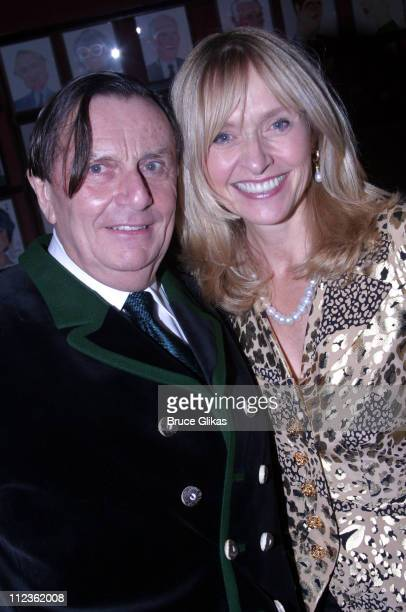 Barry Humphries and wife Lizzie Spender during Dame Edna Back With a Vengeance Broadway Opening Night at The Music Box Theater then Sardi's in New...