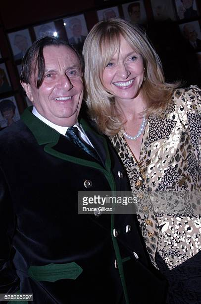 Barry Humphries and wife Lizzie Spender during Dame Edna: Back With a Vengeance Broadway Opening Night at The Music Box Theater then Sardi's in New...